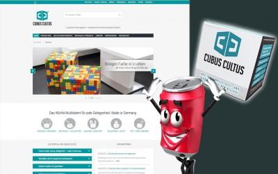 Online-Shop für einen Kultwürfel