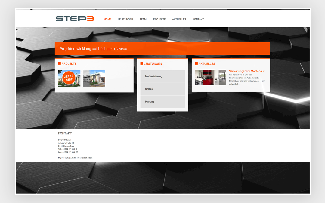 Business Homepage-Erstellung